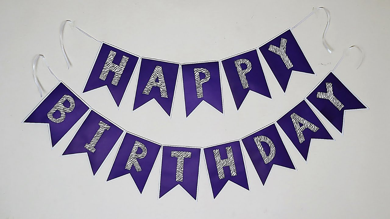 Diy Birthday Banner Birthday Decoration Ideas At Home Party Decorations Youtube