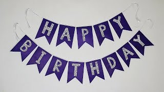 Diy Birthday Banner   Birthday Decoration Ideas At Home   Party Decorations