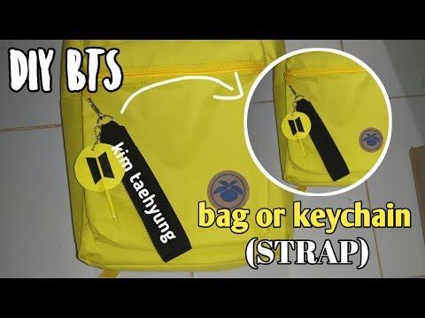 DIY K-POP II DIY BAG OR KEYCHAIN (STRAP) II Gantungan kunci BTS
