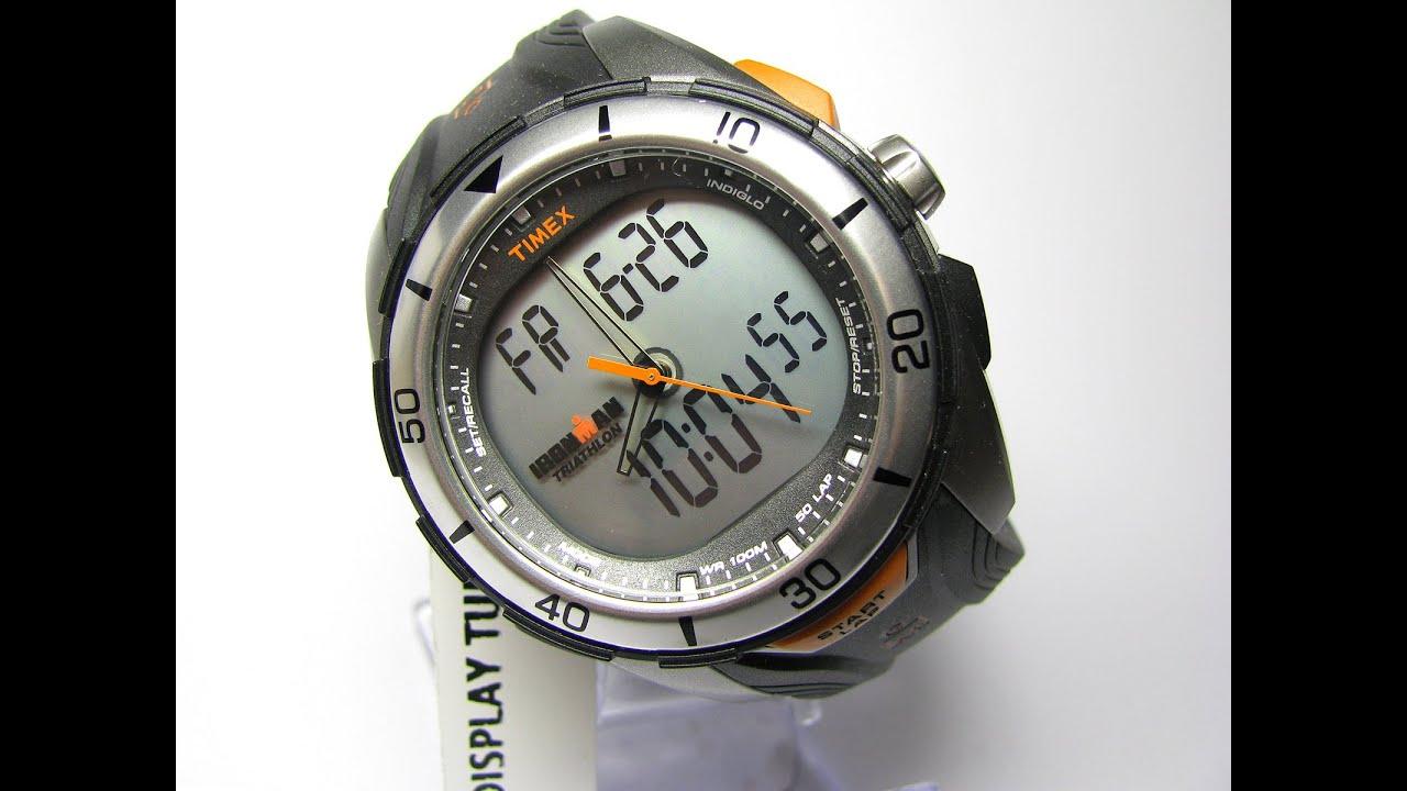 19cc262d29ed Timex Ironman T5K402 50 Lap Dual Tech Sports Watch - YouTube