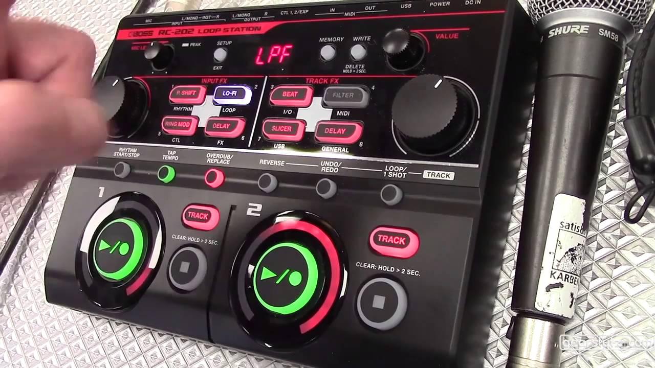 Boss RC 202 Loop Station MIDI synchronized looper Gearslutz @ Musikmesse  2016