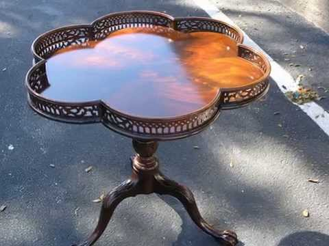 Restoration Antique Table- hand work finish , -Madadar- Naples FL