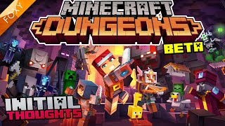 BRAND NEW!!! | MINECRAFT DUNGEONS [BETA] | Tutorial Play Through & Observations