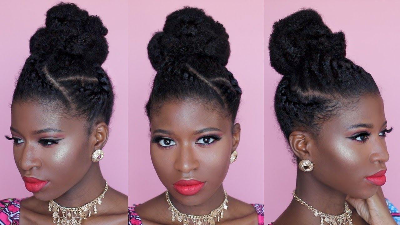 natural hair easy formal bun
