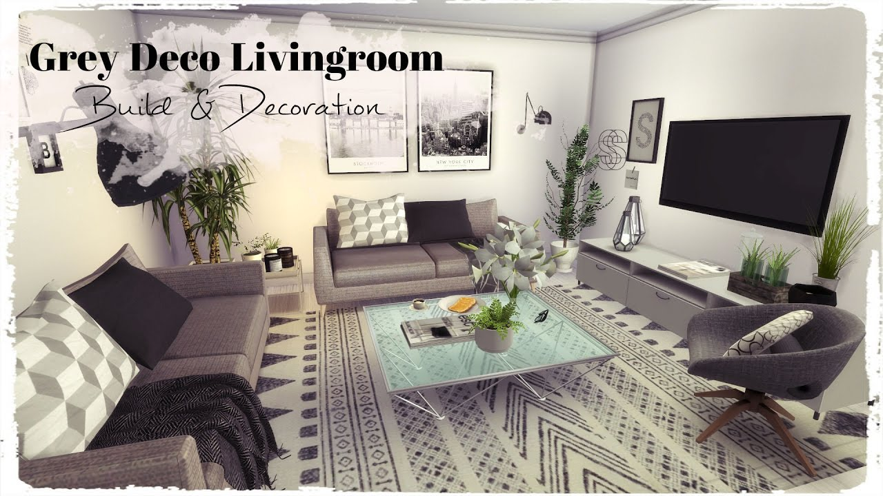 Sims 4 Grey Deco Livingroom Build amp Decoration For