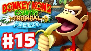 Donkey Kong Country: Tropical Freeze - Gameplay Walkthrough Part 15 - World 4: Sea Breeze Cove! 100%