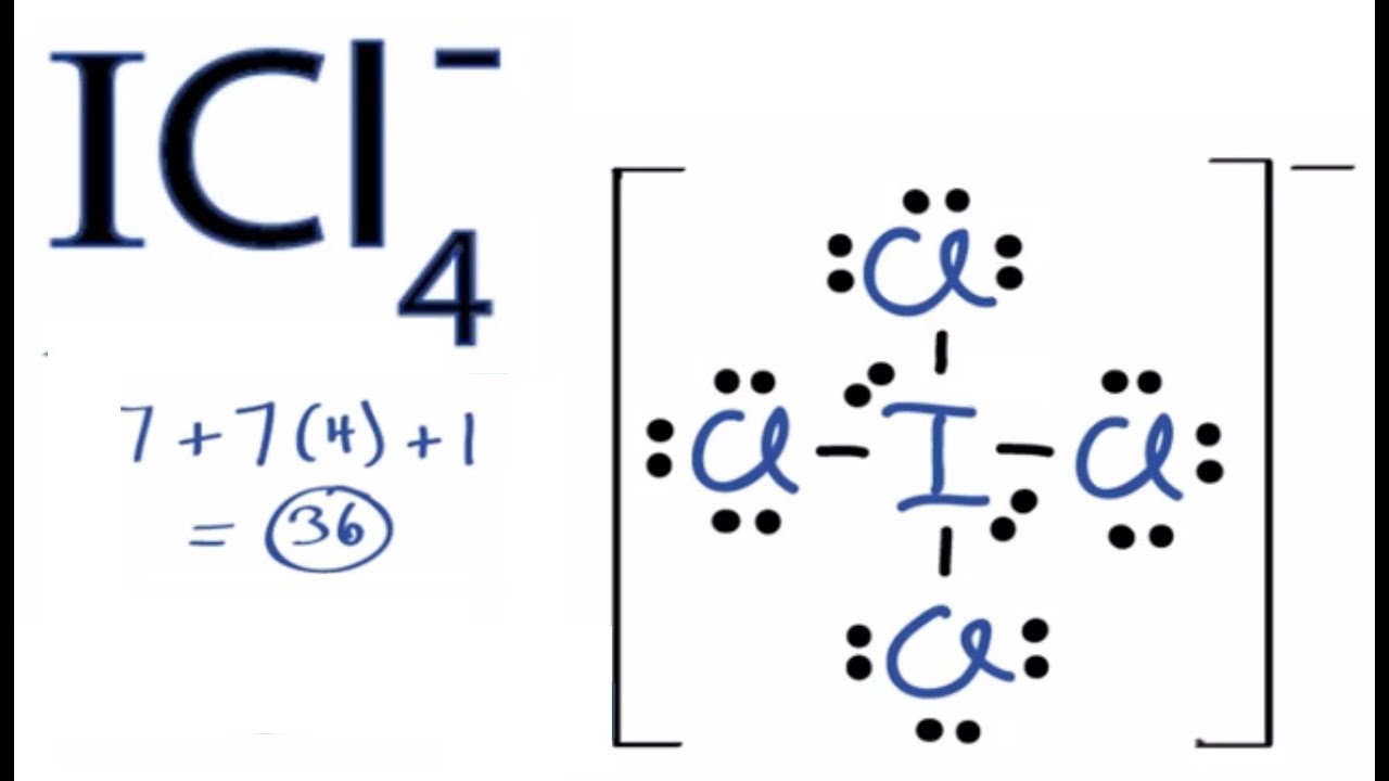 hight resolution of lewis structure for icl4ce dot diagram 11