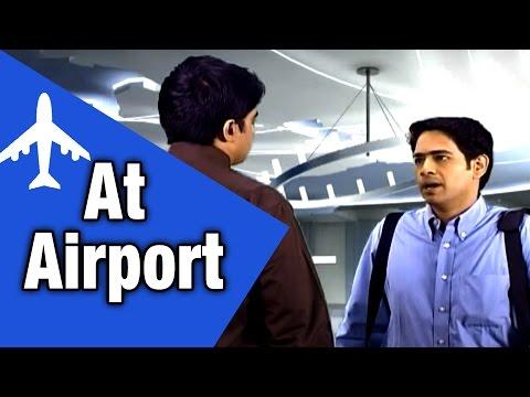 Spoken English Conversation Through Tamil: Airport Custom, Luggage missing, Checkin & Air Travel