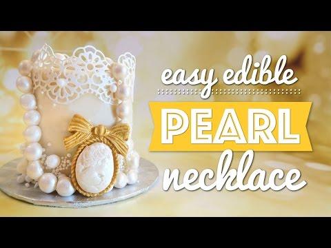 Easy Edible Gumpaste Pearl Necklace