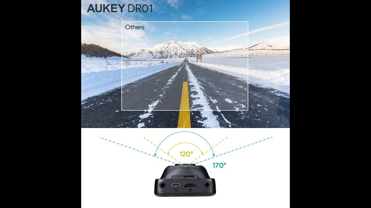 2 LCD and Night Vision 2 LCD and Night Vision DR01 AUKEY Dash Cam Dashboard Camera Recorder with Full HD 1080P 6-Lane 170/° Wide Angle Lens
