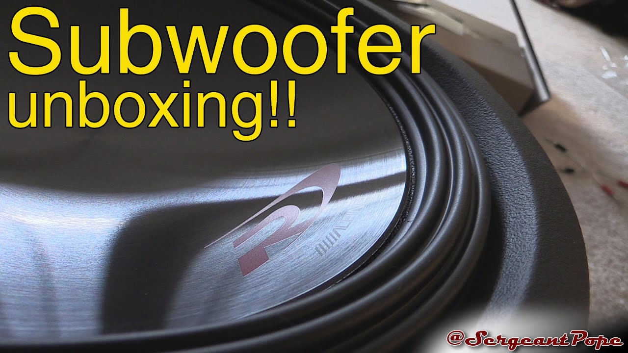 Alpine 12 Type R Subwoofer Unboxing Swr 12d4 Youtube Inch Subwoofers Wiring For The 10