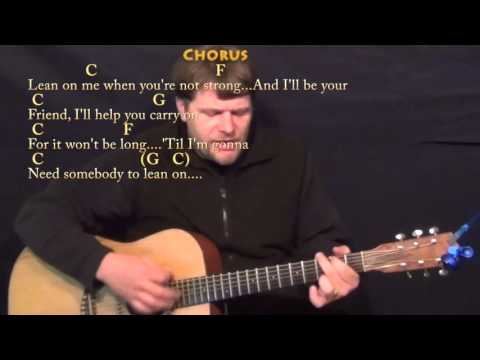 Lean On Me (Bill Withers) Strum Guitar Cover Lesson with Chords/Lyrics