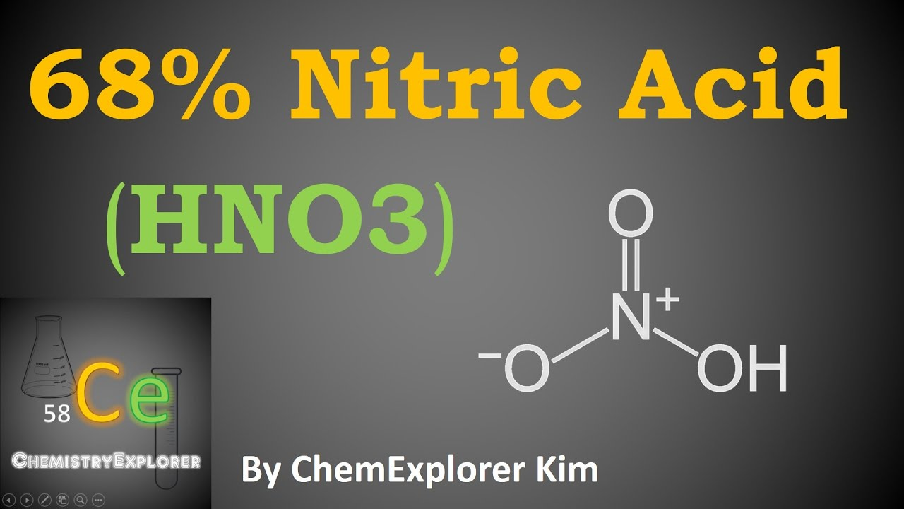 Making 68 Concentrated Nitric Acid Youtube