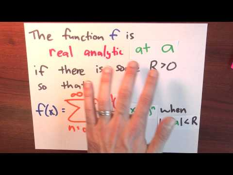 What is a real analytic function? - Week 6 - Lecture 10 - Sequences and Series