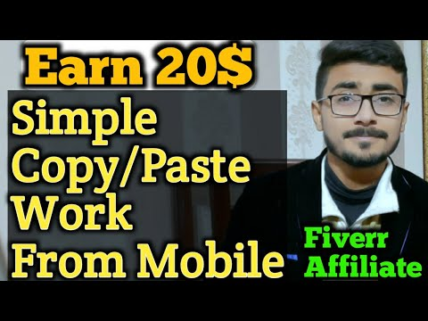 Simple Copy Paste Work from Mobile | Fiverr Affiliate | Part Time Earning | Good Part Time job