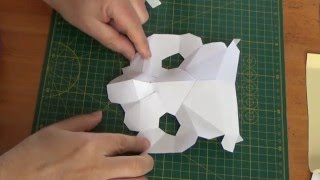 Basic paper craft techniques - building models from PaperHen