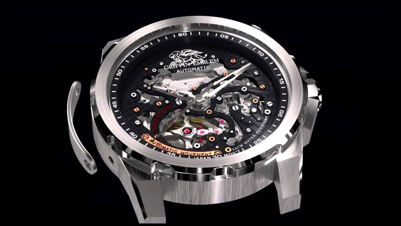 Download GRlFFlN EMBLEM ® - High Quality Automatic Watches (HD720)