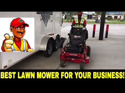 Lawn care VLOG/ Best mower for your mowing business/ Mowing in the rain