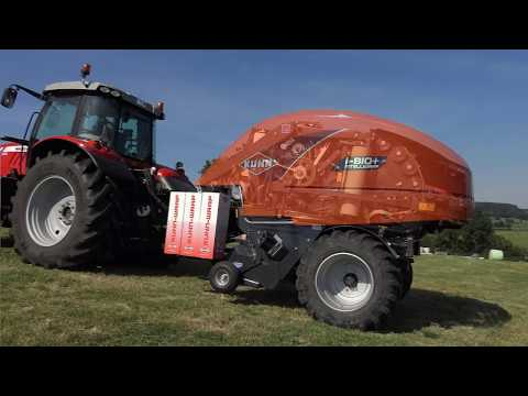 KUHN New I-BIO+ - Round Baler-Wrapper Combinations (In Action)