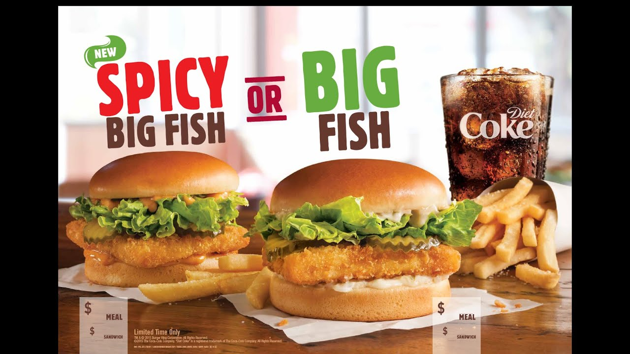 Snaqpaq burger king spicy big fish review youtube for Big fish menu