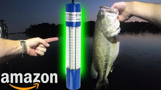 Underwater Light from Amazon, DOES IT WORK? (Bass & Crappie Fishing at Night)