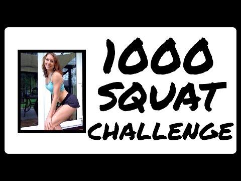 1000 Squat Challenge | Death By Squats :P