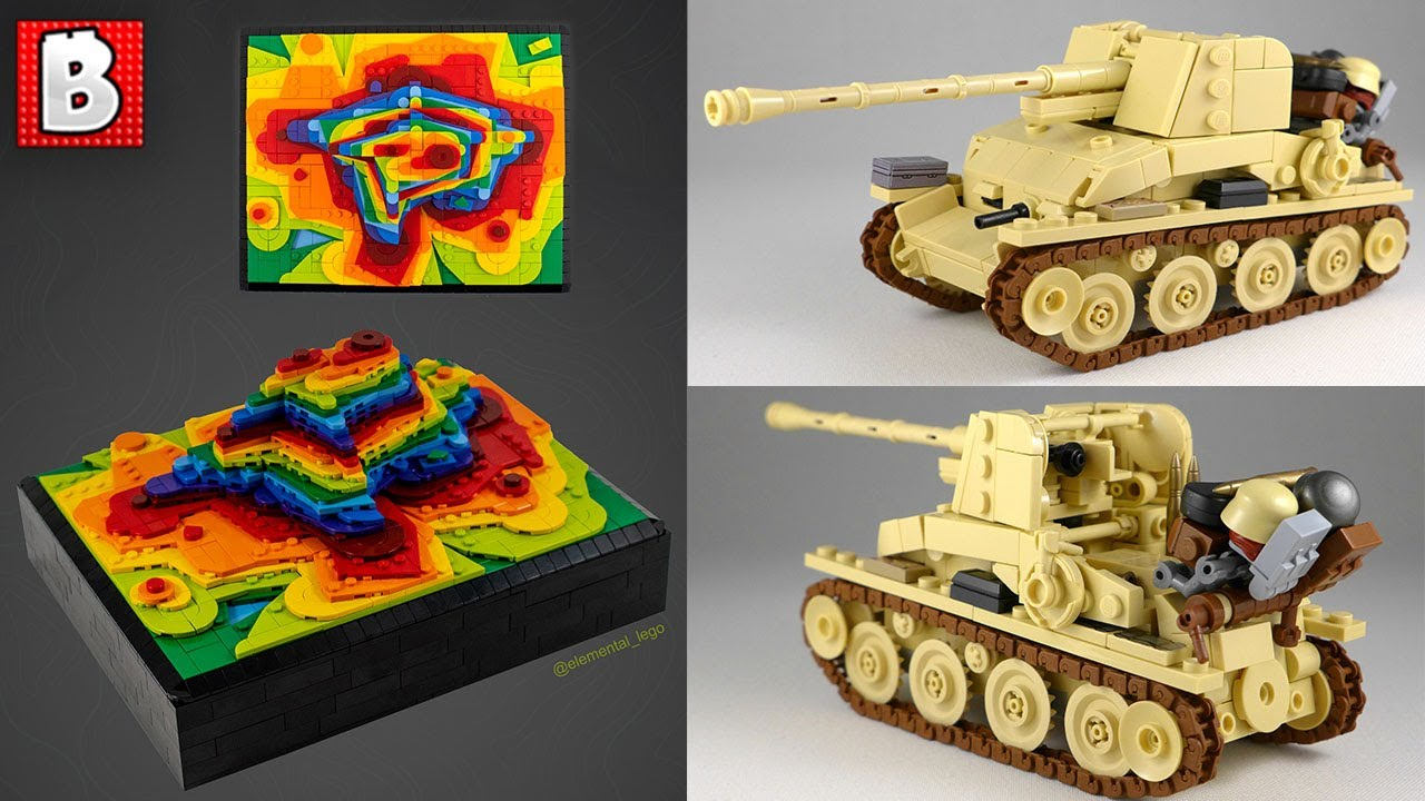 LEGO Rainbow Topography and WWII Artillery | TOP 10 MOCs