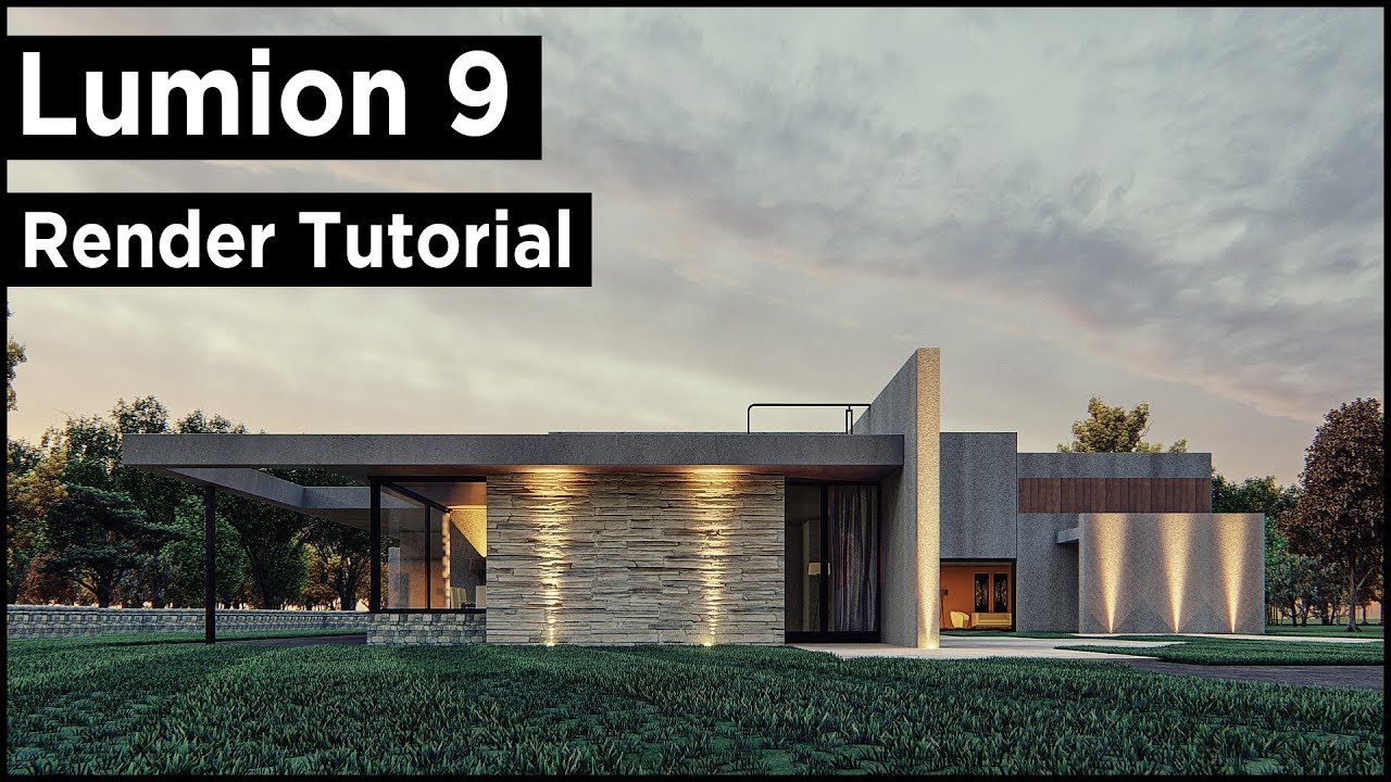 Lumion 9 Modern Architecture Design (Best Tutorial)