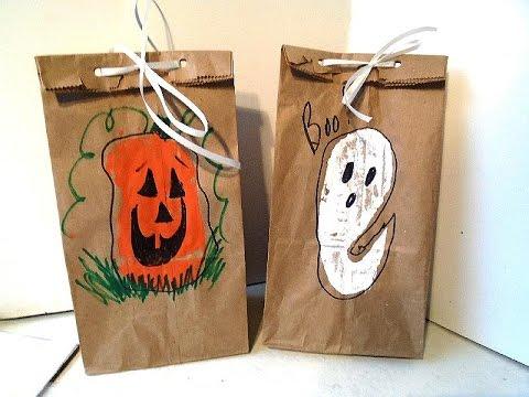 Image Of Halloween Treat Bag Craft Pumpkin Trickortreat Bag Craft