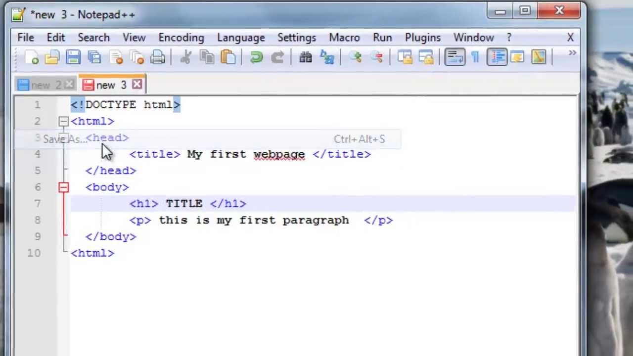 How to write a web page in HTML