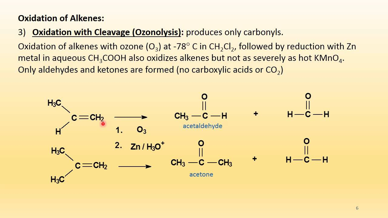 Alkenes Oxidation And Reductions Reactions