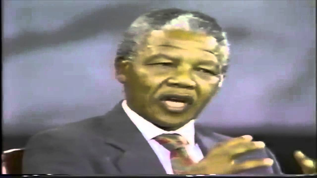 "Rare Video: Nelson Mandela Speaking [Extracts] ""Their Enemies Are Not Our Enemies""..."