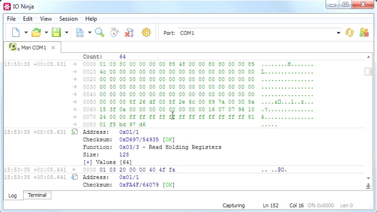 ModBus Analyzer | Serial ModBus | TCP ModBus - IO Ninja