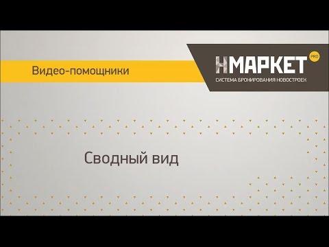 Cводный вид в системе бронирования новостроек Нмаркет.ПРО