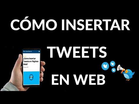 Cómo Insertar Tweets en Páginas Web