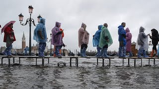 Venice floods after highest tide in 50 years with mayor pointing to climate change