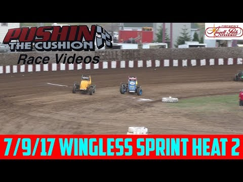 Angell Park Speedway - 7/9/17 - Wingless Sprints Heat 2