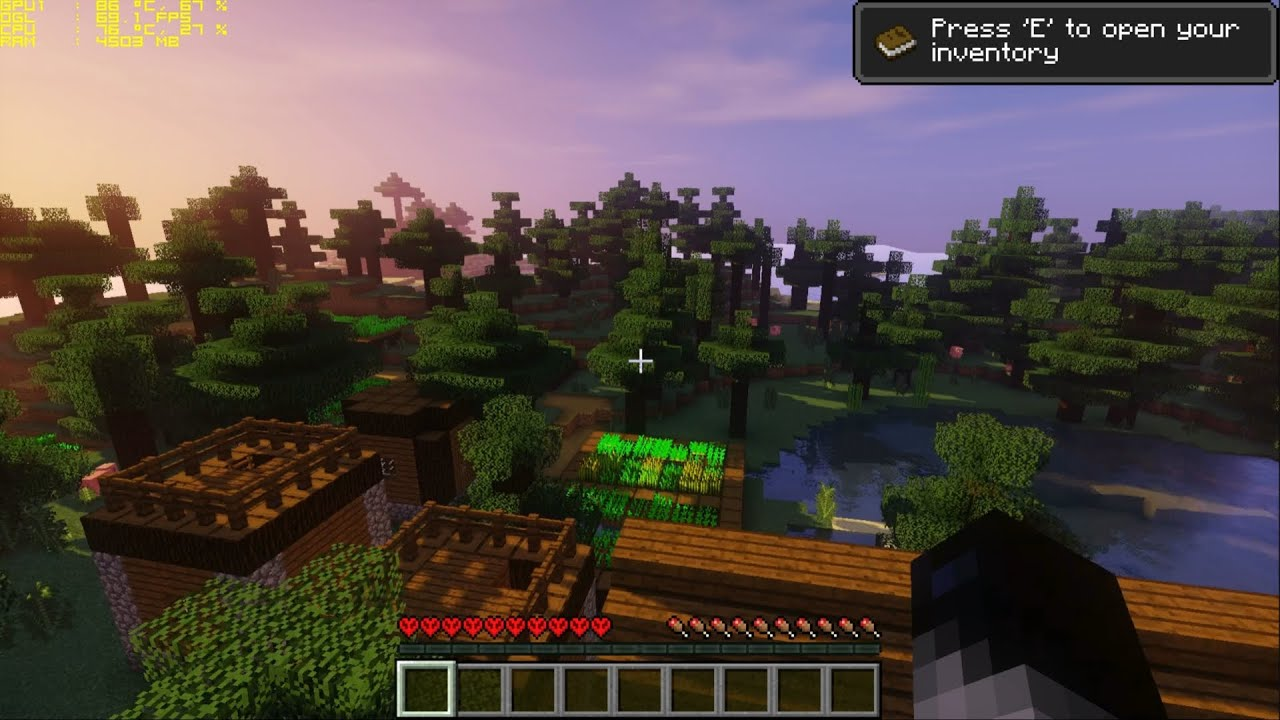 Minecraft Shaders GTX 8 Laptop Gameplay FPS Test