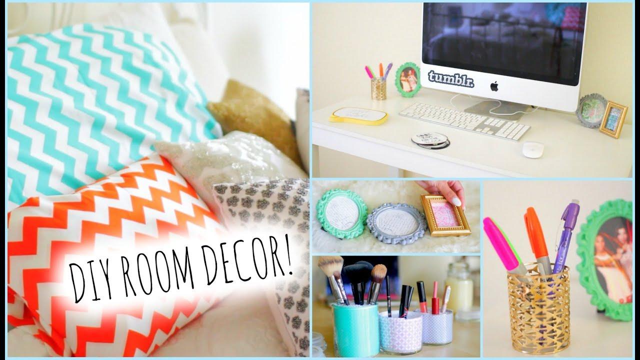 DIY Room Decorations for Cheap! + How to stay Organized - YouTube