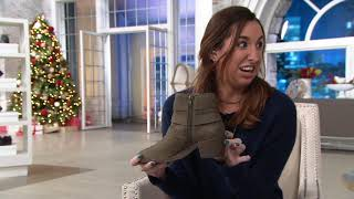 Sole Society Suede Triple Buckle Ankle Boots - Nelmaeya on QVC