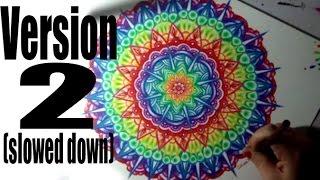 Rainbow Mandala Time Lapse - Version 2 Slower