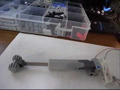 lego technic linear actuator and miniature motor youtube. Black Bedroom Furniture Sets. Home Design Ideas
