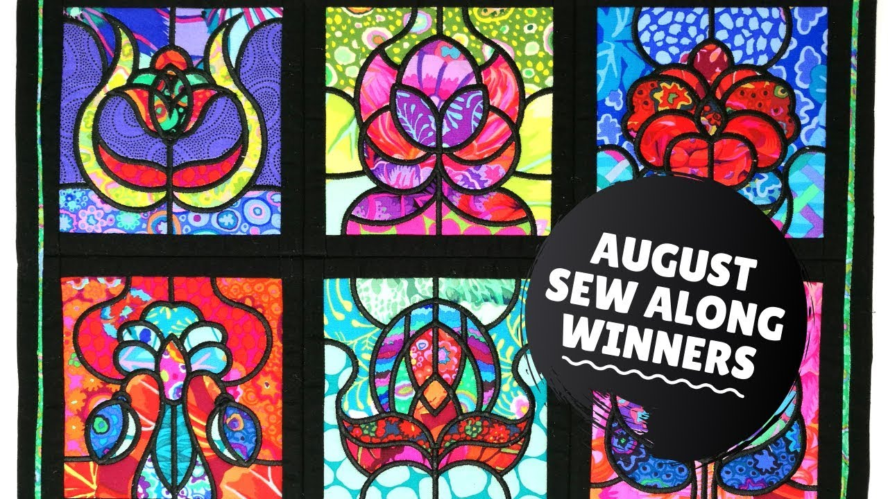 Stained Gl Window Quilt Design