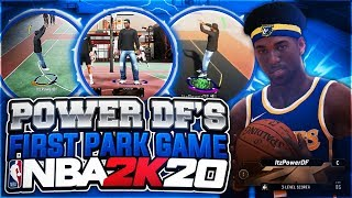 EARLY FIRST NBA 2K20 PARK GAMEPLAY! MY FIRST GAME W/ THE BEST PLAYER BUILD, TAKEOVER & ARCHETYPE!