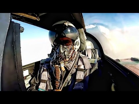 Romanian MiG-21 Cockpit Video Flying With Canadian CF-188s