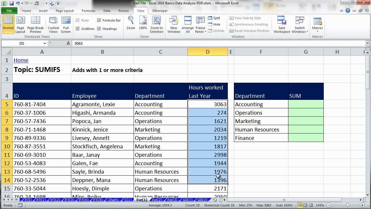 Excel Data Analysis Sort Filter PivotTable Formulas 25 – Data Analysis Excel