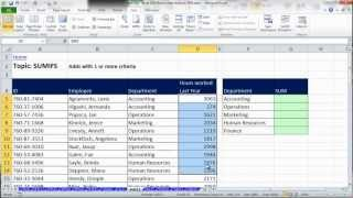 Excel Data Analysis: Sort, Filter, PivotTable, Formulas (25 Examples): HCC Professional Day 2012 thumbnail