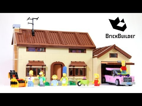 Lego The Simpsons House 71006 Build And Review Youtube