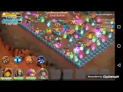 Castle Clash Insane Dungeon 2-1 3 Flames 3 Heroes F2p