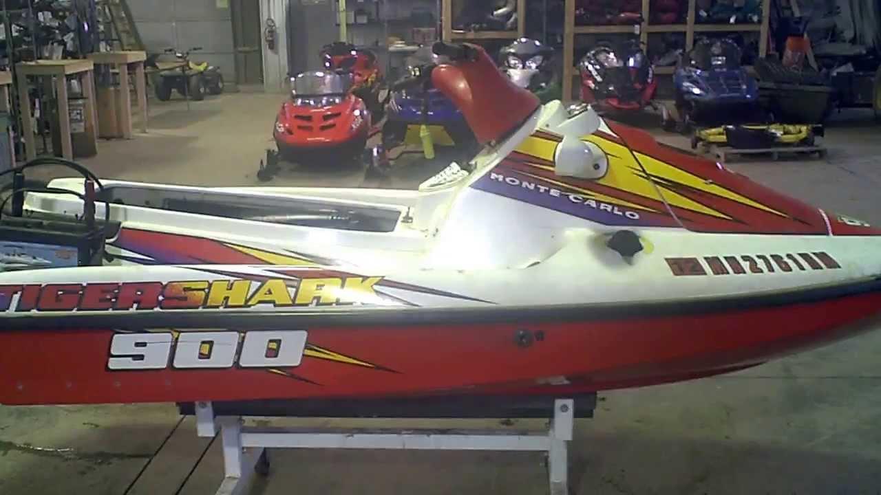 Lot 1330e 1996 Tigershark Monte Carlo 900 Running Youtube. Lot 1330e 1996 Tigershark Monte Carlo 900 Running. Wiring. 900 Tiger Shark Engine Diagram At Scoala.co